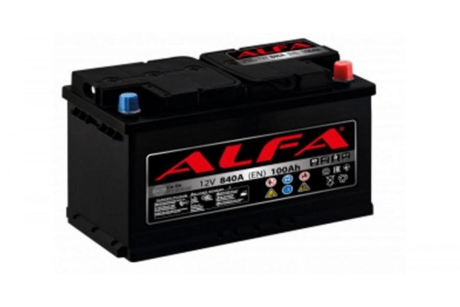 Аккумулятор ALFA Hybrid 100 А/ч 840A R+