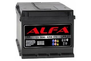 Аккумулятор ALFA Hybrid 50 А/ч 420A R+