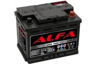 Аккумулятор ALFA Hybrid 62 А/ч 560A R+