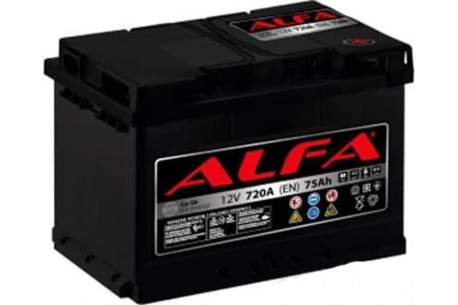 Аккумулятор ALFA Hybrid 75 А/ч 720A R+