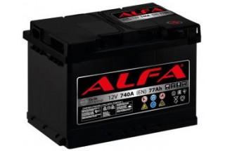 Аккумулятор ALFA Hybrid 77 А/ч 740A R+