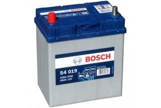 Аккумулятор Bosch S4 019 ASIA (40 А/H), 330A L+ JIS Тонкие Клеммы (540 127 033)