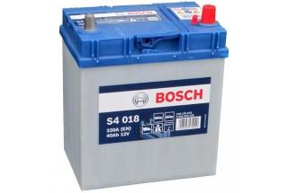 Аккумулятор Bosch S4 018 ASIA (40 А/H), 330A R+ JIS Тонкие Клеммы (540 126 033)