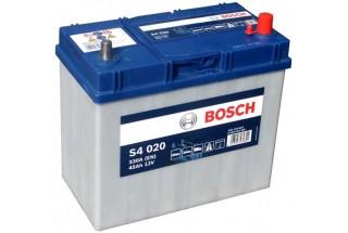 Аккумулятор Bosch S4 020 ASIA (45 А/H), 330A R+ JIS Тонкие Клеммы (545 155 033)