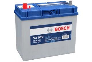 Аккумулятор Bosch S4 022 ASIA (45 А/H), 330A L+ JIS Тонкие Клеммы (545 157 033)