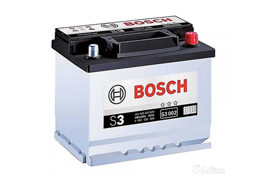 Аккумулятор Bosch S3 002 (45 A/H), 400A R+ (545 412 040)