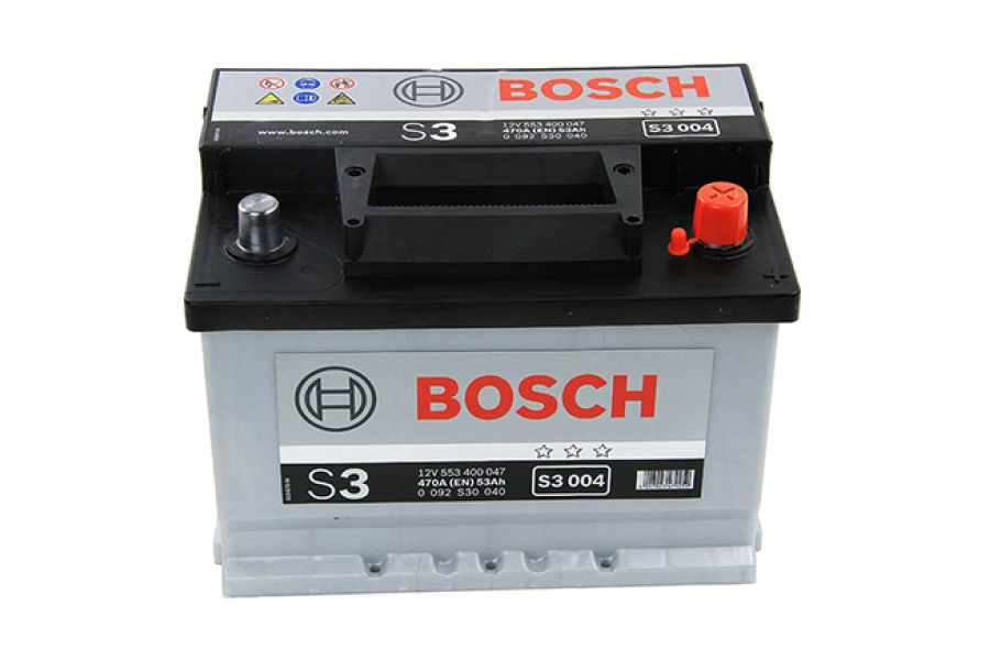 Аккумулятор Bosch S3 004 (53 A/H), 500A R+ (553 401 050)