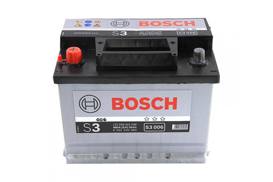 Аккумулятор Bosch S3 005 (56 A/H), 480А R+ (556 400 048)