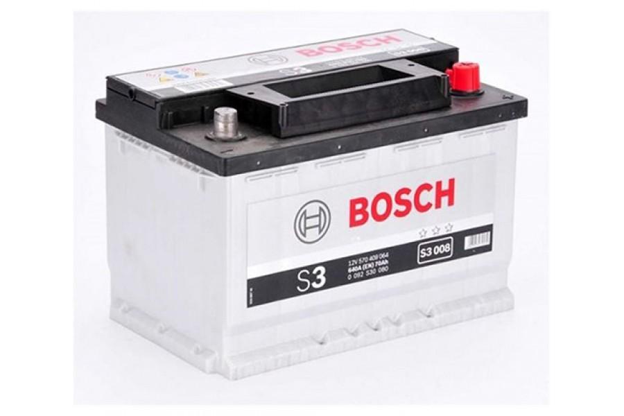 Аккумулятор Bosch S3 007 (70 А/H), 640A R+ (570 144 064)