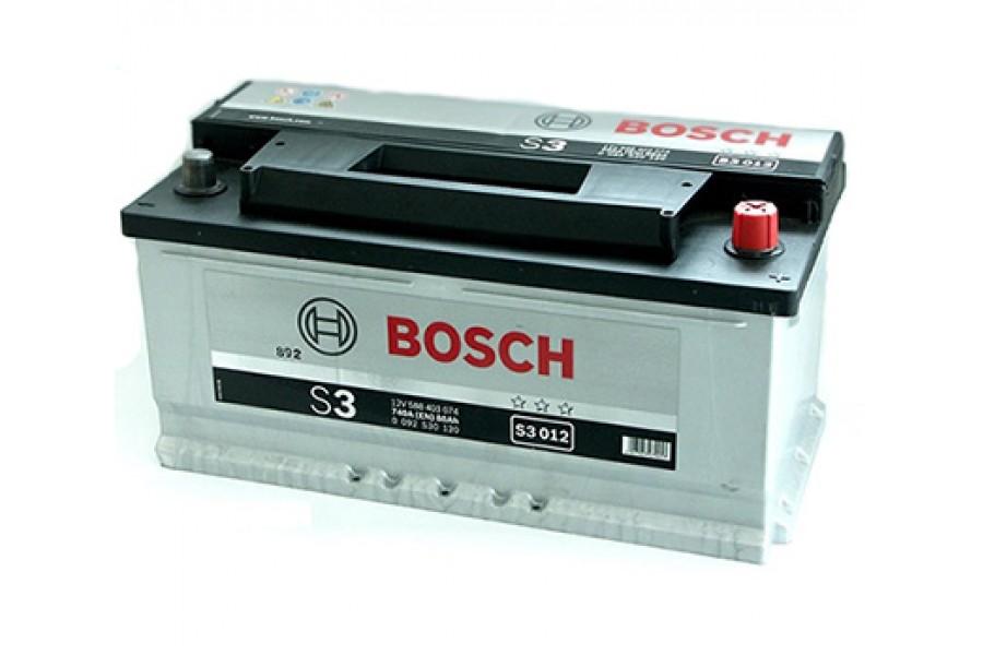 Аккумулятор Bosch S3 012 (88 А/H), 740A R+ (588 403 074)