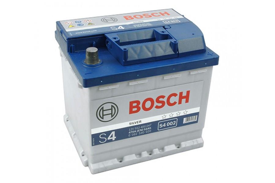 Аккумулятор Bosch S4 002 ,52 А/H, 470A R+ (552 400 047)