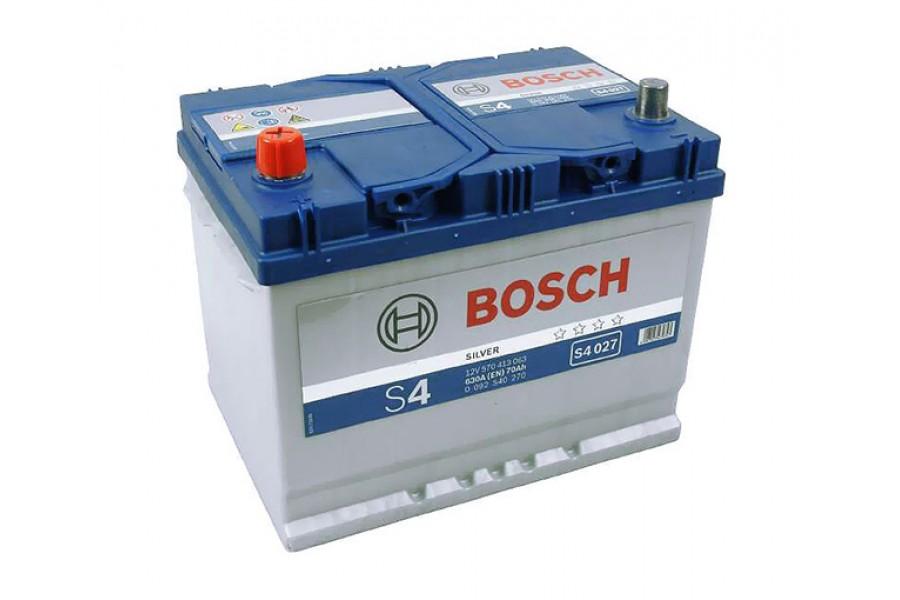 Аккумулятор Bosch  S4 027 ASIA (70 А/H), 630A L+ (570 413 063)