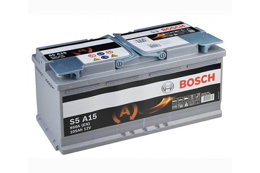 Аккумулятор BOSCH S5 A15 AGM (105 А/H), 950А R+ (605 901 095)