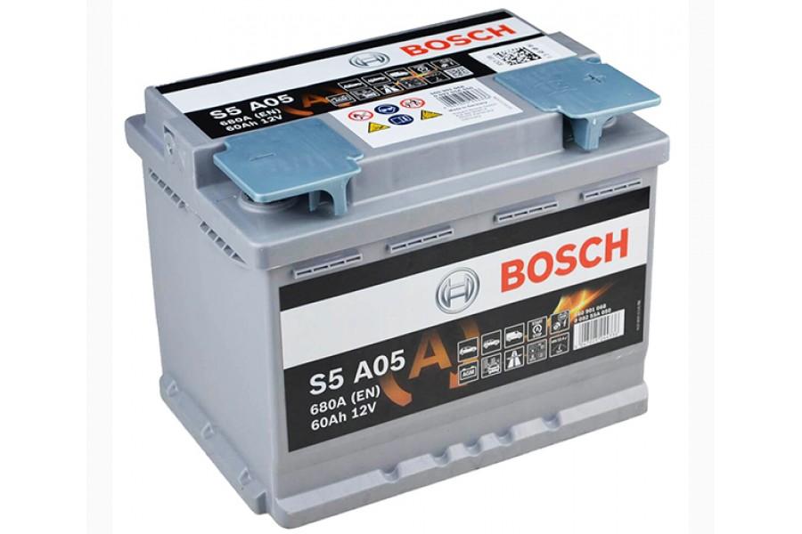 Аккумулятор BOSCH S5 A05 AGM (60 А/H), 680А R+ (560 901 068)
