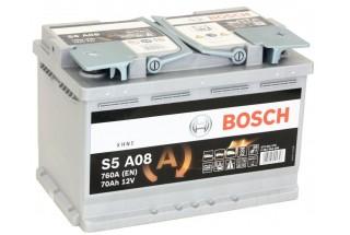 Аккумулятор Bosch S5 A08 AGM (70 А/H), 760А R+ (570 901 076 )