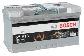 Аккумулятор Bosch S5 S5 A13 AGM (95 А/H), 850А R+ (595 901 085 )