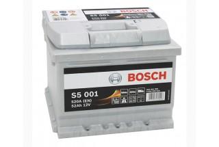 Аккумулятор BOSCH S5 001 (552401052) 52 А/ч 520 A R+
