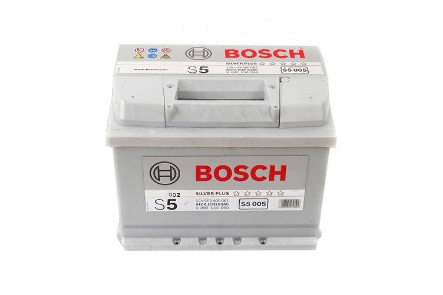 Аккумулятор Bosch S5 005 (63 А/H), 610А R+ (563 400 061)