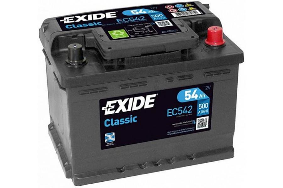 Аккумулятор Exide Classic EC542 (54 A/h), 500A R+