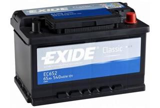 Аккумулятор Exide Classic EC652 (65  A/h), 540A R+