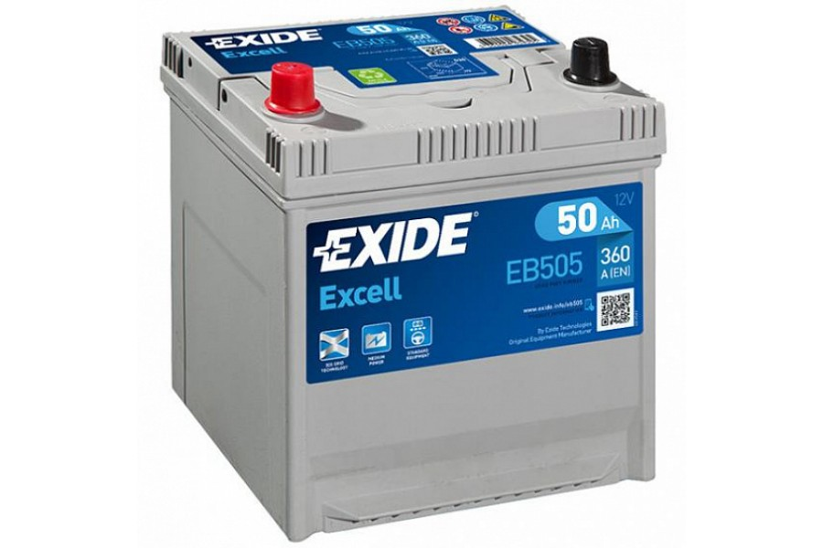 Аккумулятор Exide Excell EB505 (50  A/h), 360A L+