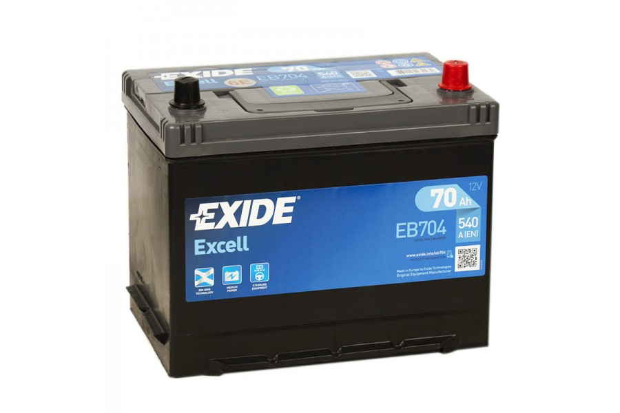 Аккумулятор Exide Excell EB704 (70  A/h), 540A R+