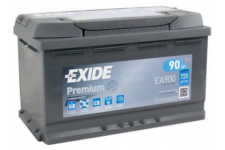 Аккумулятор Exide Premium EA900 (90 A/h), 720A R+