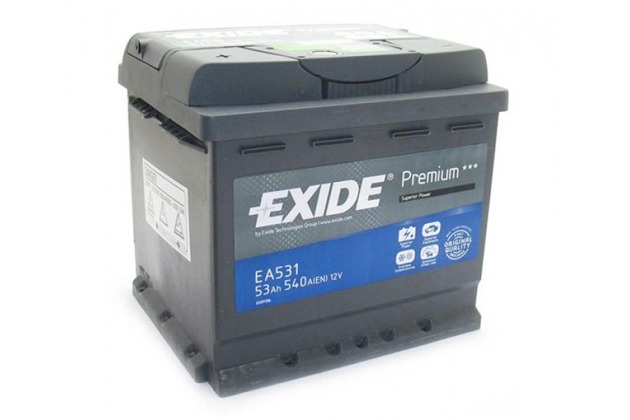 Аккумулятор Exide Premium 53  A/h R 540A (EN)