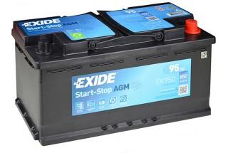 Аккумулятор Exide Start-Stop AGM EK950 (95 A/h), 850A R+