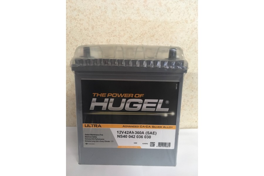 Аккумулятор Hugel 42  A/h 360А (EN)