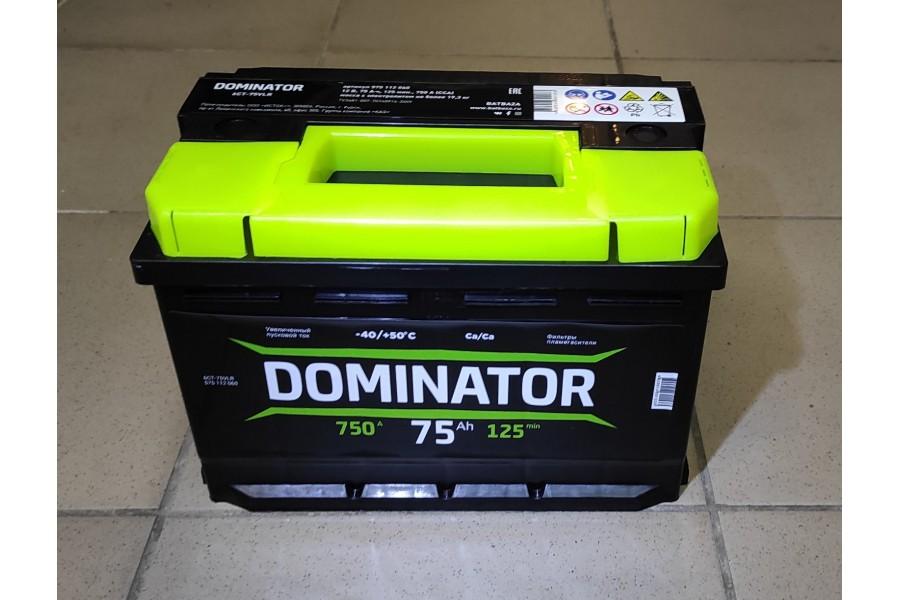 Аккумулятор Dominator 75 a/h 750A