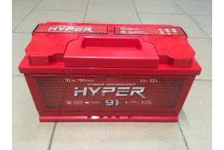 Аккумулятор Hyper 91  A/h 790A ОТ 1-го ПОСТАВЩИКА