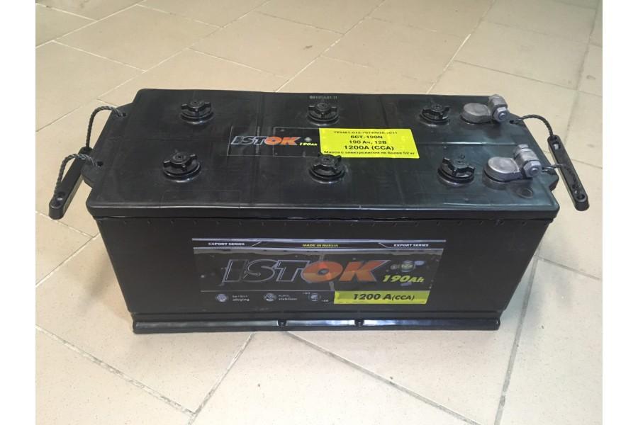 Аккумулятор Исток 190  A/h 1200 e/n ОТ 1-го ПОСТАВЩИКА