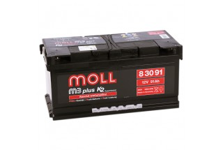 Аккумулятор Moll M3 Plus 91   A/h 800-900A (EN) ОТ 1-го ПОСТАВЩИКА