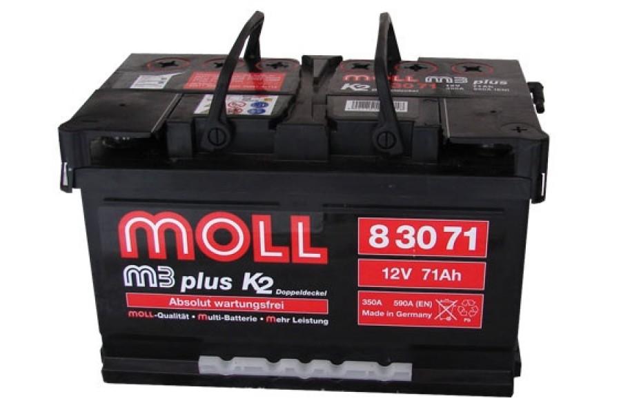 Аккумулятор Moll M3 Plus 71   A/h 620-750A (EN) ОТ 1-го ПОСТАВЩИКА