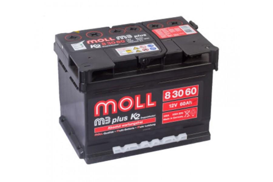 Аккумулятор Moll M3 Plus 60 A/h 550A (EN)
