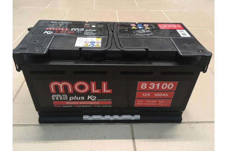 Аккумулятор Moll M3 Plus 100   A/h 850A (EN) ОТ 1-го ПОСТАВЩИКА