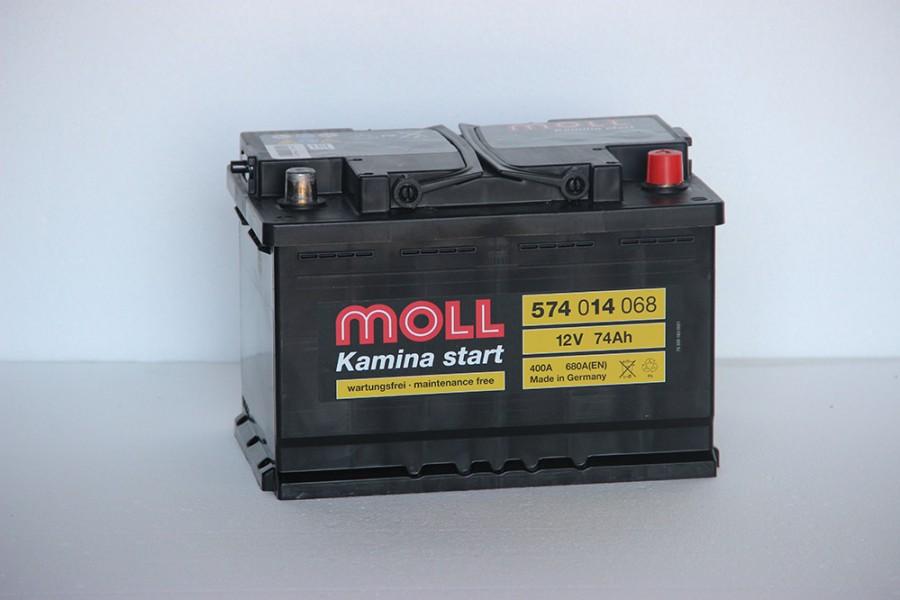 Аккумулятор Moll 74   A/h R 680A (EN) ОТ 1-го ПОСТАВЩИКА