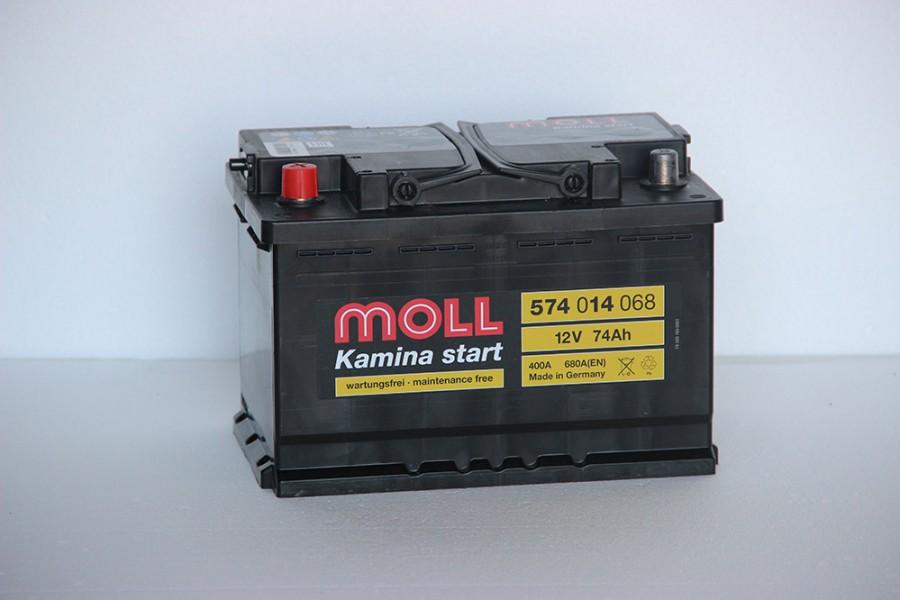 Аккумулятор Moll 74 A/h L 680A (EN)