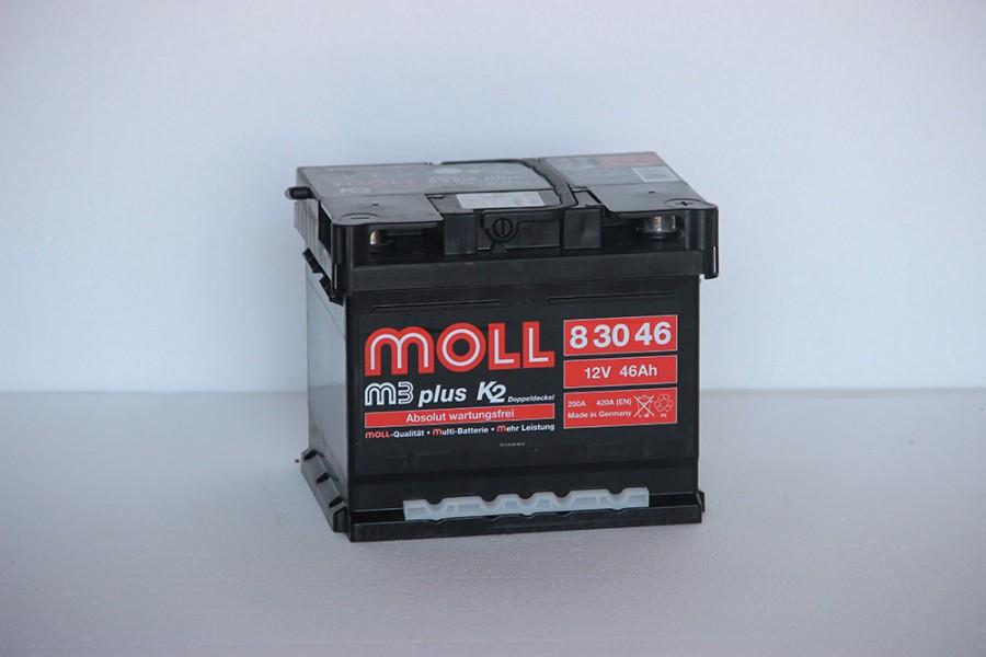 Аккумулятор Moll M3 Plus 46 A//ч 430A (EN)  ОТ 1-го ПОСТАВЩИКА