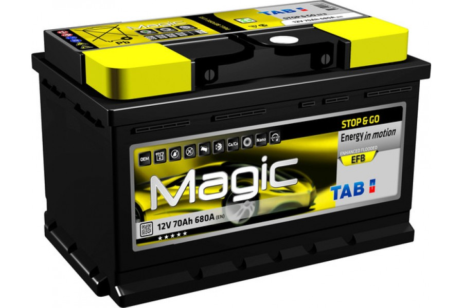 Аккумулятор TAB Magic STOP & GO EFB 70  A/h 680А R+