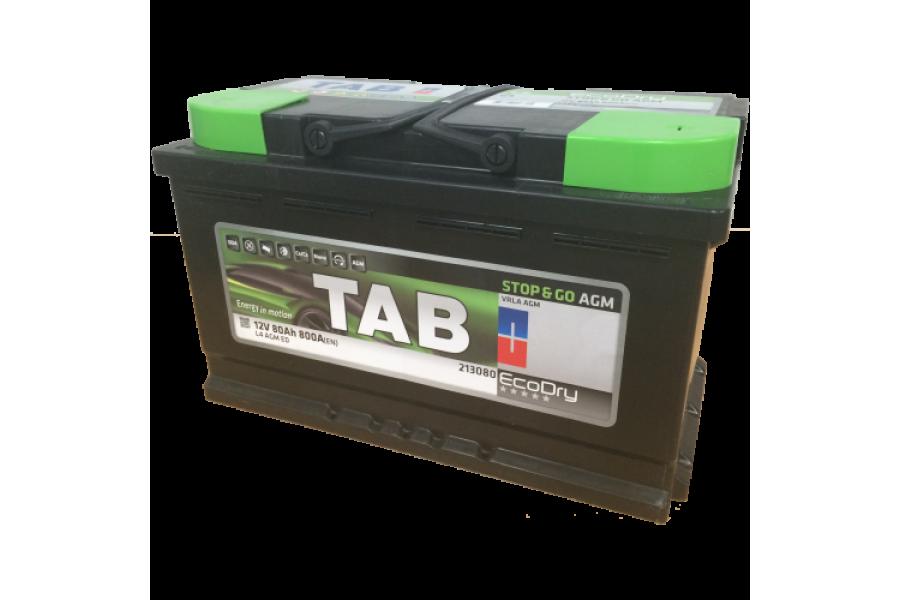 Аккумулятор TAB Stop & Go AGM 80 A/h 800A R+