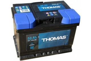Аккумулятор Thomas 53 A/h 510A R+