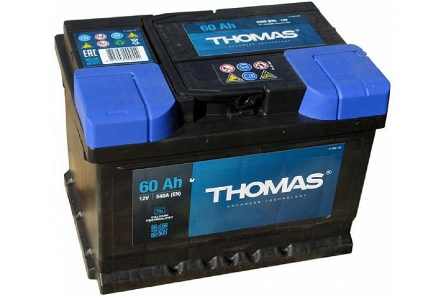 Аккумулятор Thomas 60 A/h 580A L+