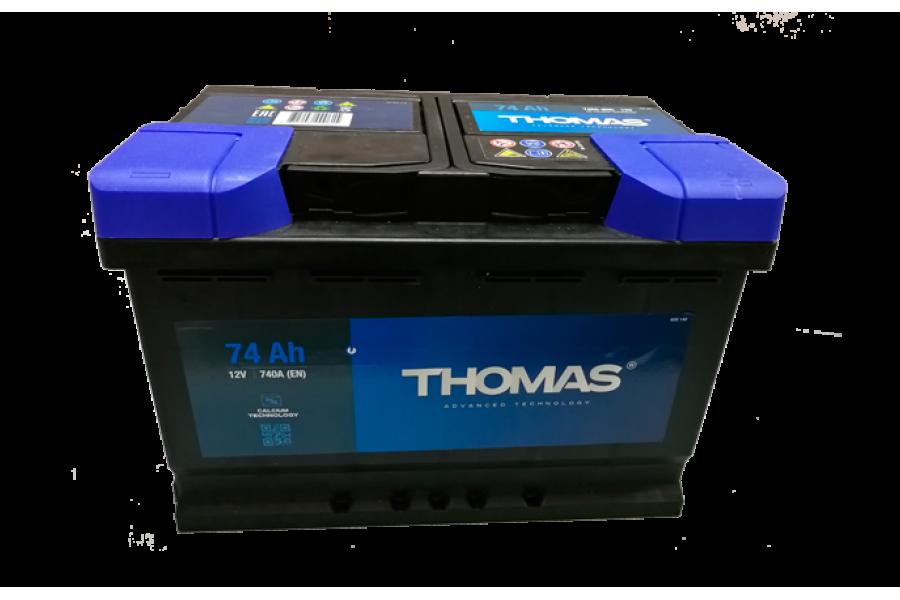 Аккумулятор Thomas 74 A/h 740A R+