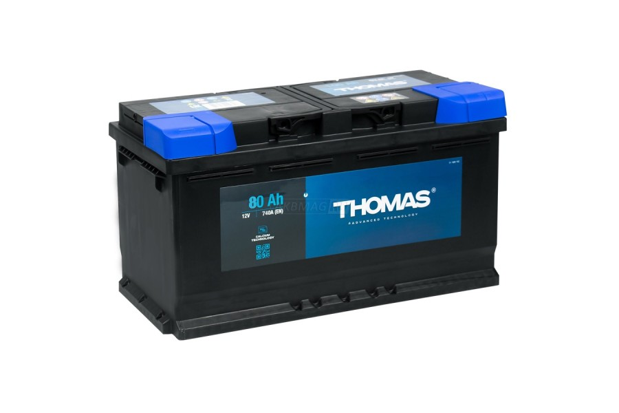 Аккумулятор Thomas 80 A/h 740A R+ низкий