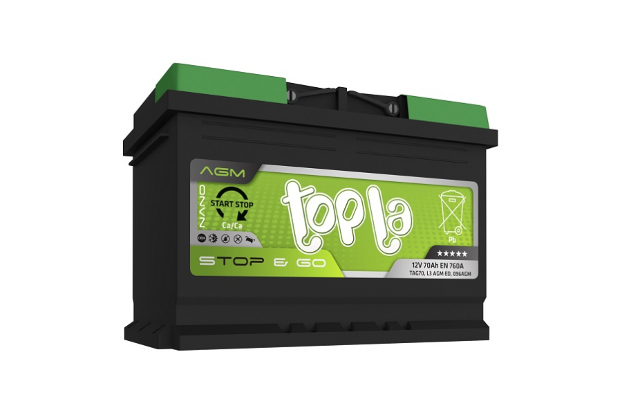 Аккумулятор Topla TOP AGM Stop & Go 70  A/h 760A