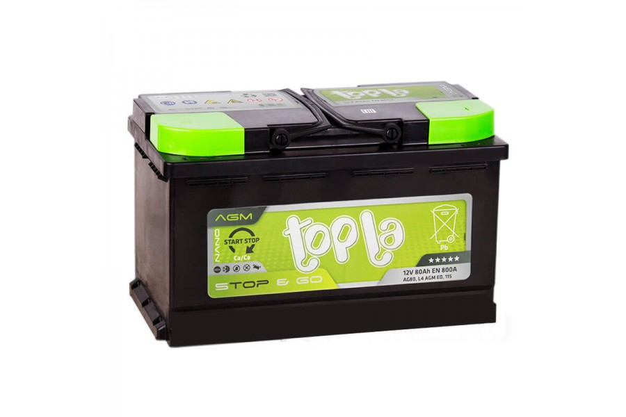 Аккумулятор Topla TOP AGM Stop & Go 80  A/h 800A
