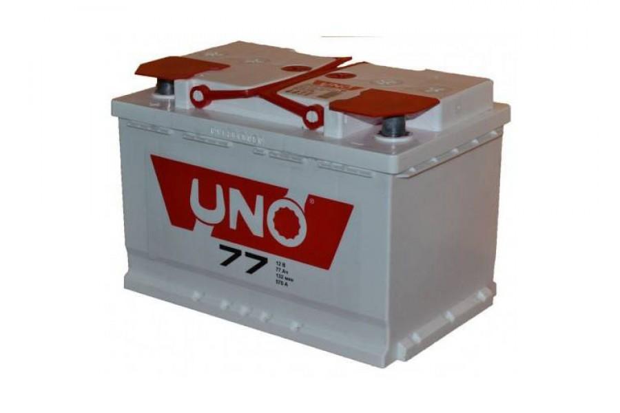 Аккумулятор UNO 6CТ-77 (77  A/h) 550 A