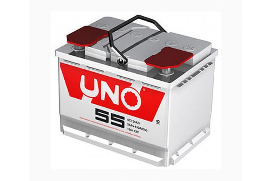 Аккумулятор UNO 6CТ-55 (55  A/h) 420 A